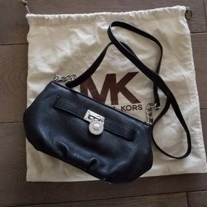 Michael Kors Hamilton Black Crossbody with Lock